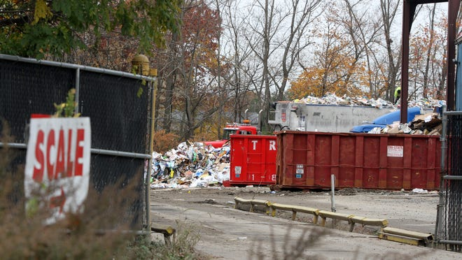 Exterior of ReCommunity Recycling facility, where State Police recovered the remains of a baby girl on Tuesday afternoon, on Railroad Avenue in Farmingdale, NJ Thursday November 13, 2014.  Staff photo Tanya Breen