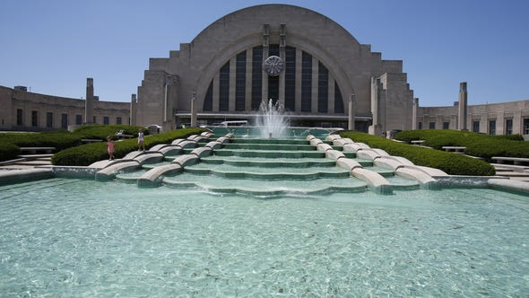 The Enquirer/Gary Landers Queensgate's Union Terminal opened in 1933 as a railroad station and now houses the Cincinnati Museum Center. The Enquirer/Gary Landers If Issue 8 fails, Union Terminal and Music Hall renovation projects will have to start over, and it is likely that both renovations will be stalled for many years to come while yet another plan is developed and the cost of construction continues to rise, Murray Sinclaire says. The Enquirer/Gary Landers The Cincinnati Mini Maker Faire is 11 a.m. to 6 p.m. Saturday-Sunday at Cincinnati Museum Center, 1301 Western Ave. in Queensgate. Free. 513-287-7000; www.cincymuseum.org. Union Terminal in Queensgate was opened in 1933 as a railroad station and now houses the Cincinnati Museum Center.  The fountains in front are among the parts of the terminal in need of repairs and upgrades.    The Enquirer/Gary Landers Union Terminal ownership needs to be clarified, Ann Becker says.  Enquirer file Union Terminal in Queensgate houses the Cincinnati Museum Center. The terminal opened in 1933. The Enquirer/Gary Landers Union Terminal. Exterior of the Union Terminal building, which now houses The Museum Center at Union Terminal, photographed Wednesday June 19, 2013. The Enquirer/Gary Landers