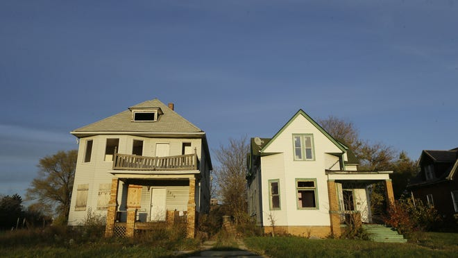 There are about 60,000 vacant structures in Detroit, mostly residential, out of about 380,000 total parcels. There's a roughly 85% correlation between tax-foreclosed and blighted properties.