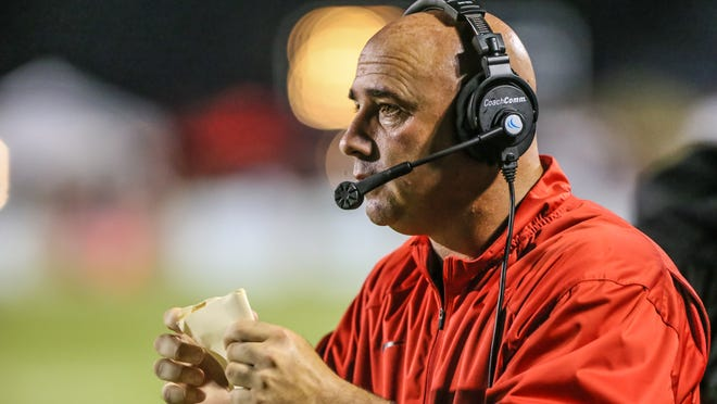 Brandon coach Brad Peterson led his team over Northwest Rankin, coached by his cousin, Tyler.