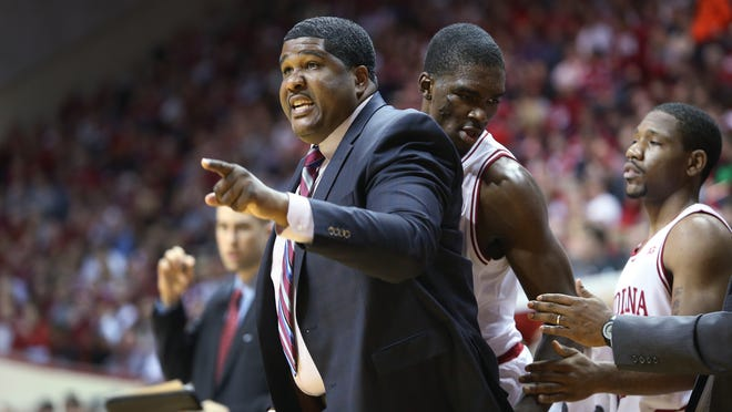 Basketball coach Kenny Johnson, during his time with Indiana University.