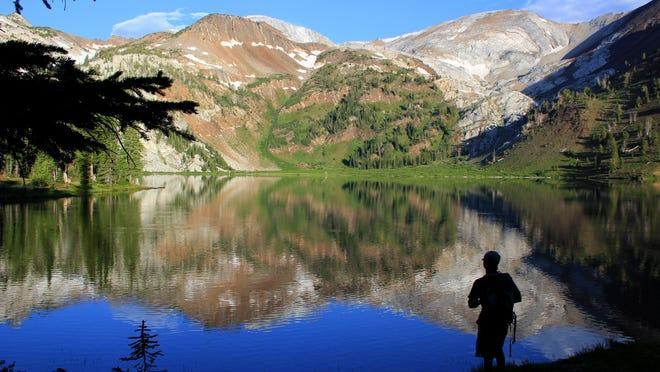 Beautiful Ice Lake sits at 7,800 feet the Wallowa Mountain's Eagle Cap Wilderness in northeastern Oregon.