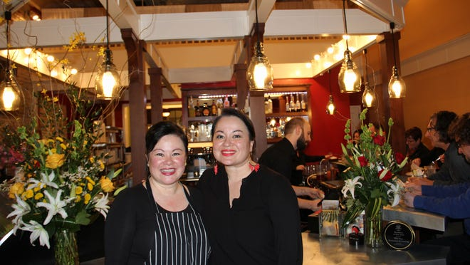 Jessica Ritter (left) and Cecilia James Ritter, co-owners of the Wild Pear Restaurant & Catering, photographed at the restaurant on Monday, Feb. 9, 2015.
