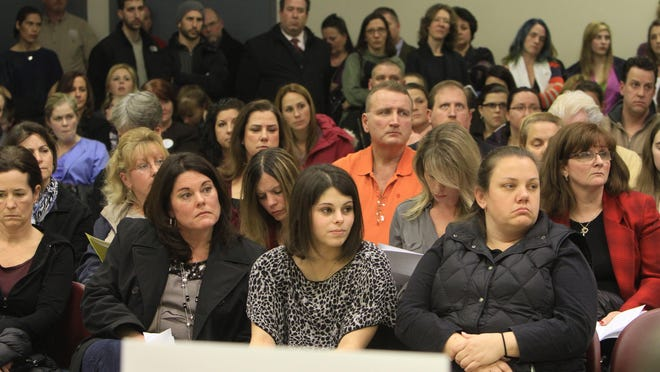Concerned parents, students and educators pack the Carmel Town Hall in Mahopac for a community forum on the Common Core.