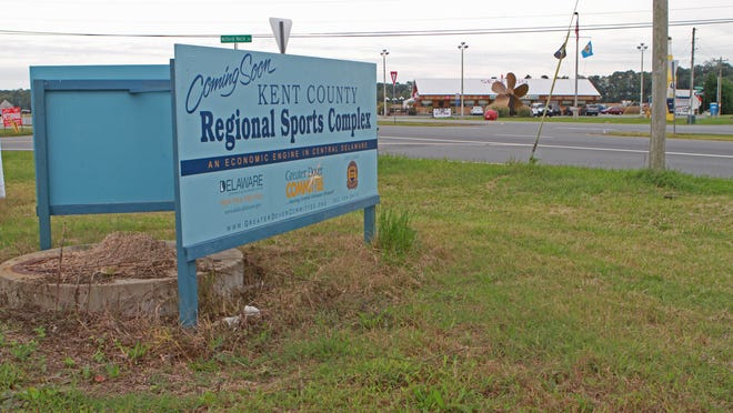 The site of the Kent County Regional Sports Complex south of Frederica is shown on Sept. 29. Planners say they are close to securing a $20 million bond for the project.