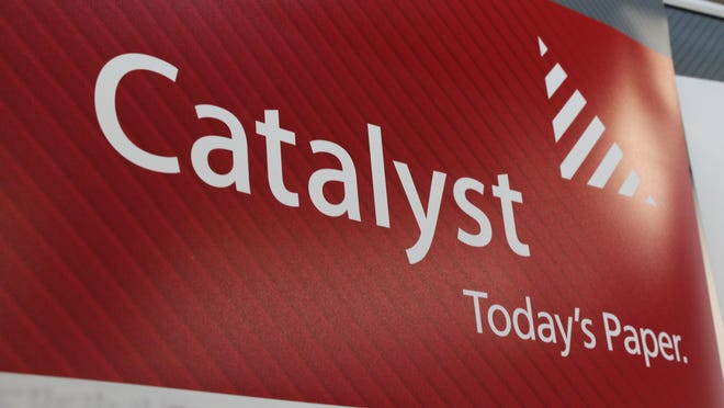 Catalyst signage at the Biron paper mill.
