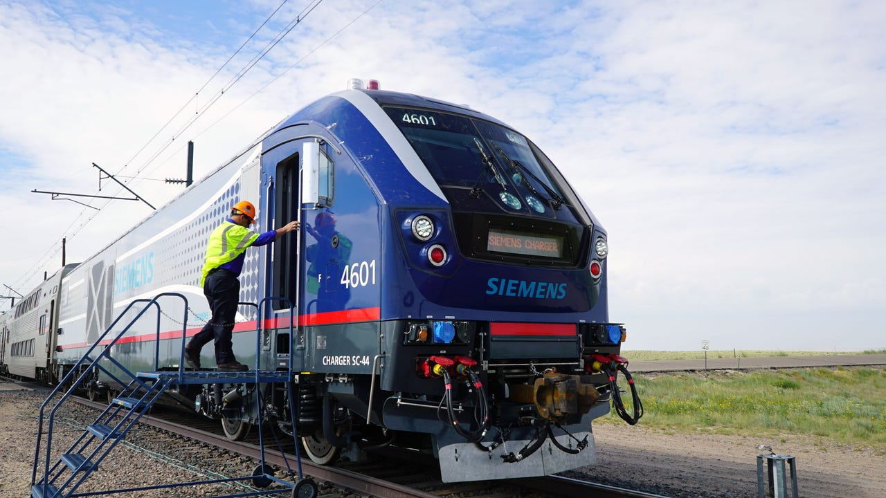 Stand inside the cab of the nation's newest locomotive, the Charger, as it undergoes testing.