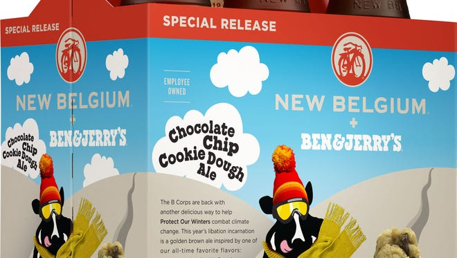 Ben & Jerry's and New Belgium are partnering to release Chocolate Chip Cookie Dough Ale this fall.