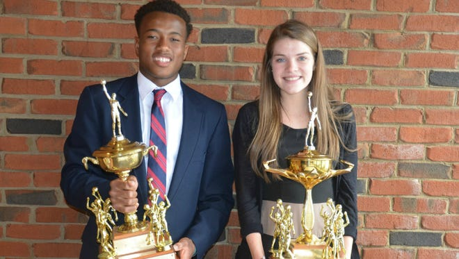 Montgomery Bell Academy's Jermaine Francis and Martin Luther King's Molly Kafader were named 2015 Moss/Oliver award recipients on Wednesday.
