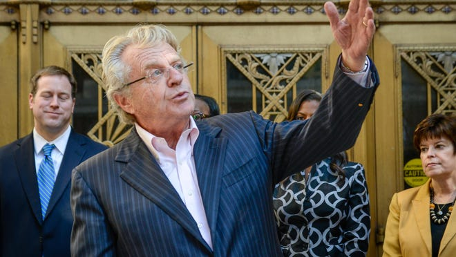 Since Jerry Springer has taken the low road with his syndicated television show, a letter writer finds it funny when he criticizes the Republican presidential candidates.