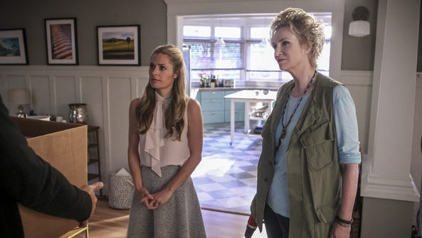 Maggie Lawson, left, and Jane Lynch star in the first-season