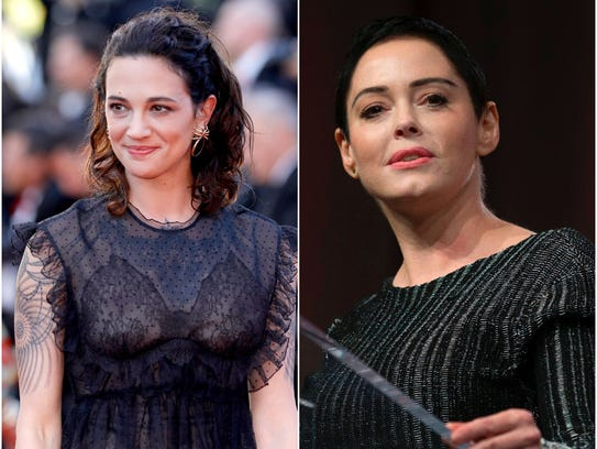 Asia Argento, left, and Rose McGowan are two of the