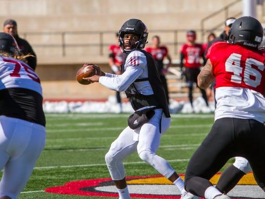 Southern Utah quarterback Patrick Tyler (3) throws