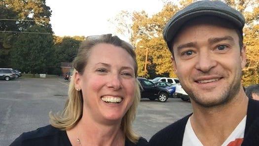 Suzanne Jones and Justin Timberlake