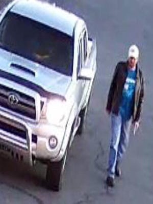 The Knox County Sheriff's Office is searching for the suspect in a police impersonation in which a handgun was pointed at a woman outside a gym in Powell on Sunday, January 16.