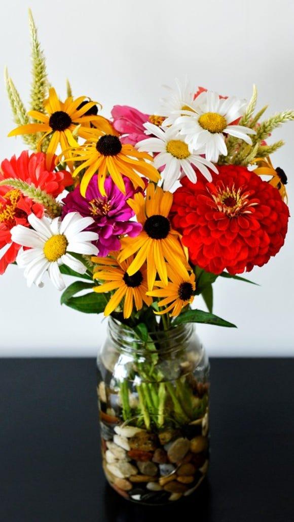 CSA wildflower bouquet. Photo by Chris Dunn.