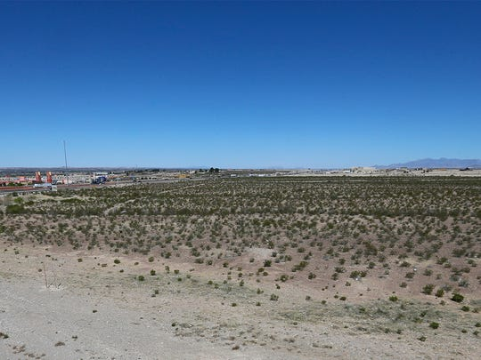 Another view of the proposed location of a $28 million-$30 million Cinergy Entertainment complex and Franklin Galleria shopping center at Transmountain and Interstate 10.