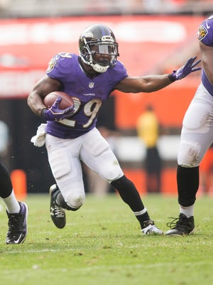 Justin Forsett with the Ravens.