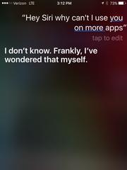 Screenshot of Siri on iPhone