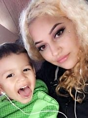 Sofia Diaz-Piceno with her son.