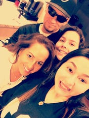 Marie Rivera and her family. Marie was stabbed multiple