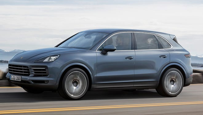 This photo provided by Porsche shows the Porsche Cayenne 2019 that was shown at the Frankfurt Auto Show 2017. Fully redesigned for the 2019 model year, the new Cayenne features a lighter chassis, more powerful engines and a revised interior. (Courtesy of Porsche Cars North America Inc. through AP)