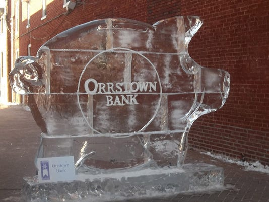 """Lois Snyder of Jackson Twp submitted this photo to the YDR Nature and Scenery gallery Feb. 1. Snyder writes, """"For keeping cool cash... An ice sculpture in Chambersburg"""""""