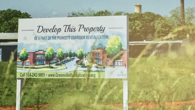 The Greenville Revitalization Corp. is marketing the former site of the Piedmont Shirt Co. as Forge, hoping for development ideas to improve the Poinsett Corridor.