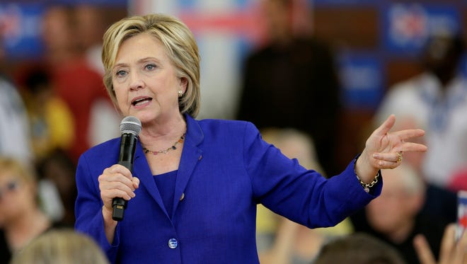 Hillary Clinton speaks during a community forum on health care on Sept. 22, 2015, in Des Moines, Iowa.