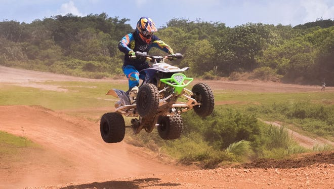 The Open A, B ATV race combined local and Japanese racers during Smokin' Wheels 2017 at the Guam International Raceway on April 8.
