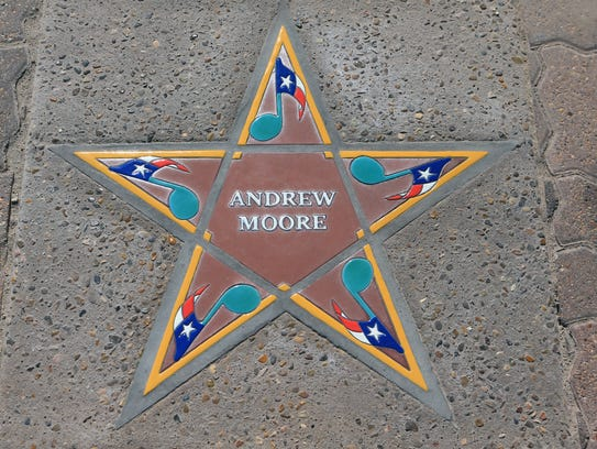 Andrew Moore's star was installed Thursday, May 31,