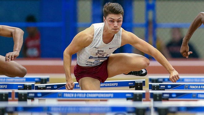 Trey Cunningham at the 2019 NCAA Indoor Championships in Birmingham, Ala. where he finished third.