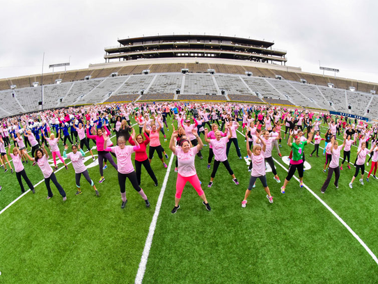 Kelly Cares hosted a Zumba event at Notre Dame Stadium.