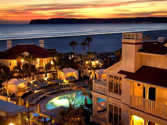 View from the Spa at the Del at Hotel del Coronado in Coronado, Calif.