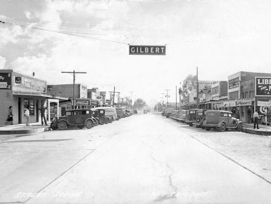 Early 1930s Main Street in Gilbert.