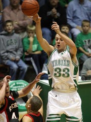 New Castle's Chase Stigall makes a pass against Southside