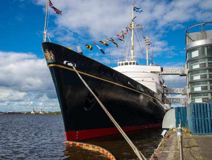 Decommissioned in 1997, the Royal Yacht Britannia is