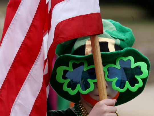 A scene from the 2015 St. Patrick's Day Parade in South