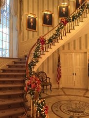 The Governor's Mansion's stunning spiral staircase