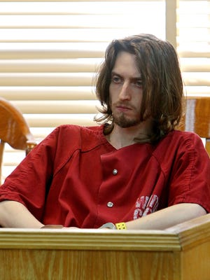 Kody Austin Lott, 22, sits in the 30th District Court in this Times Record News file photo.