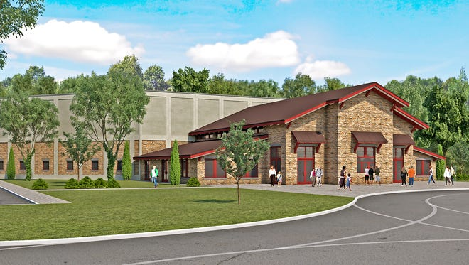 Brown County broke ground on the Brown County Music Center in July 2018. In August, it will host its first show. This is a rendering of what the outside will look like.