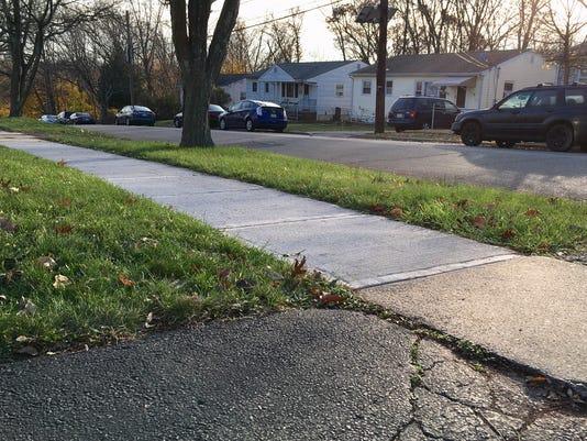 Highland Park sidewalk