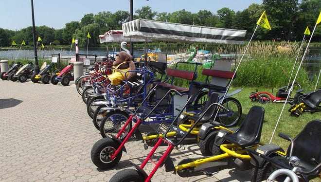 Some of the options for bike rental from High Roller Fun Rentals at Frame Park in Waukesha. The Menomonee Park location will offer much of the same.