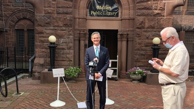 Republican Kevin O'Connor wants to debate U.S. Sen. Ed Markey seven times before the Nov. 3 general election, and used the site of Markey's primary night victory rally in Malden to issue the challenge on Monday.