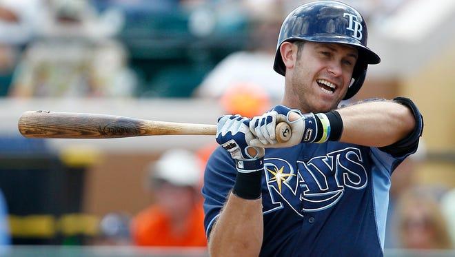 Evan Longoria hit 20 home runs for the Rays in 2017.
