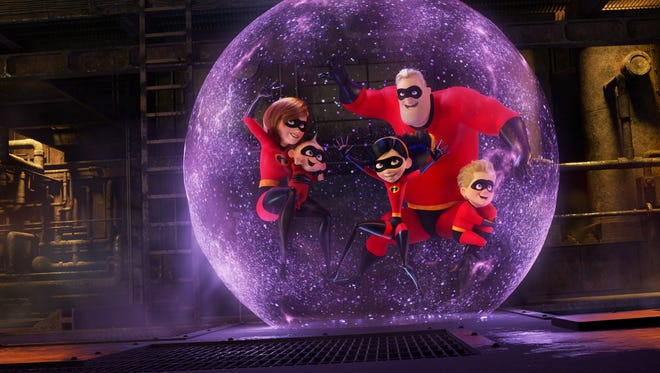 """12. """"Incredibles 2"""" (2018)   It's hard to top the original of anything, unless it's a """"Godfather"""" movie (or, for some, a """"Toy Story"""" one). This doesn't, but it's still an entertaining, relevant movie. Superheroes are still outlawed, but a billionaire and his sister try to make them legitimate again. Elastigirl is the one out saving the day, while Mr. Incredible stays home with the kids -- a far more dangerous job."""