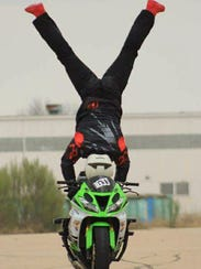 Ian Gaines started his motorcycle stunt riding as soon