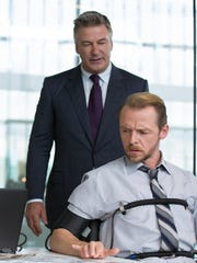 """Alec Baldwin and Simon Pegg in a scene from """"Mission:"""
