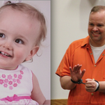 Joshua Burns, right, who is serving a one-year county jail sentence for child abuse, will learn Wednesday if he will retain his parental rights to his daughter, Naomi Burns, 1, left.