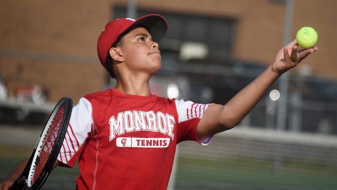 Junior Kyle Pafford will be a key player for Monroe's boys tennis team this season.